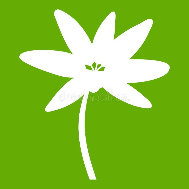 Tropisches Palme-Ikonengrün lizenzfreie abbildung
