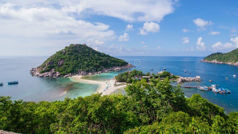 Tropisches Paradies auf der Insel von KOH nang Yuan in Thailand lizenzfreie stockbilder