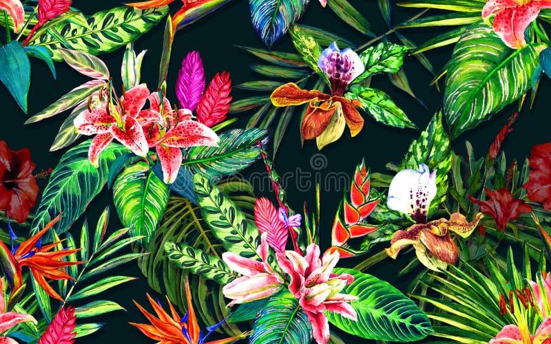 Tropisches Paradiesmuster lizenzfreie abbildung