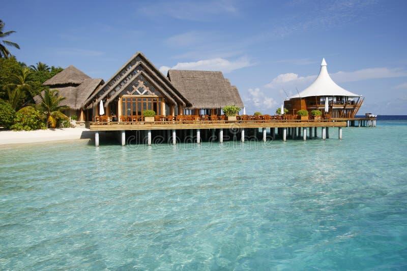 Tropisches Plattform-Haus stockbild