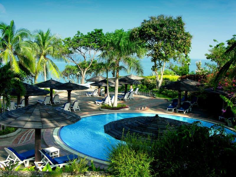 Download Tropisches Pool stockbild. Bild von thailand, hawaii, blau - 35905