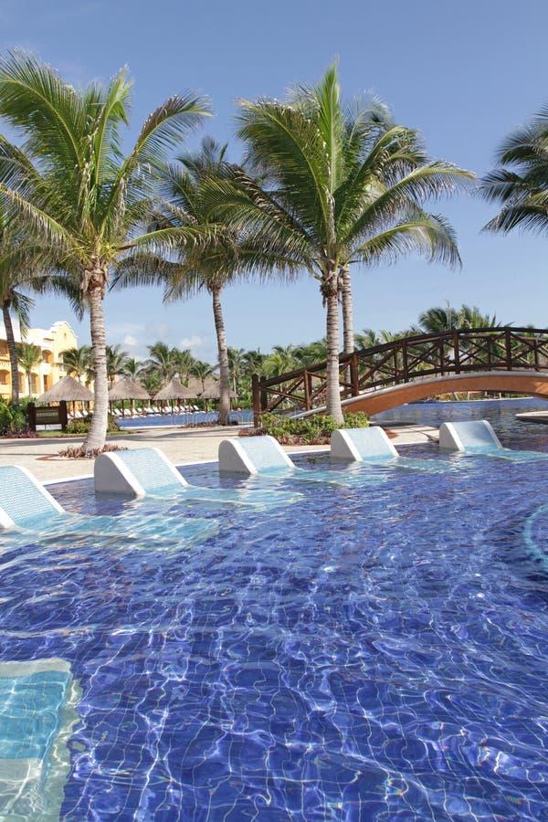 Tropisches Rücksortierung-Pool Lizenzfreies Stockbild