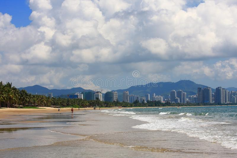 Tropisches Seestrandparadies stockfotografie