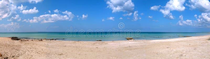 Tropisches Strandpanorama stockfotos