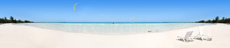 Tropisches Strandpanorama stockbilder