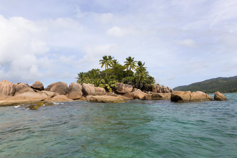 Tropisk ö St Pierre, Seychellerna arkivfoton