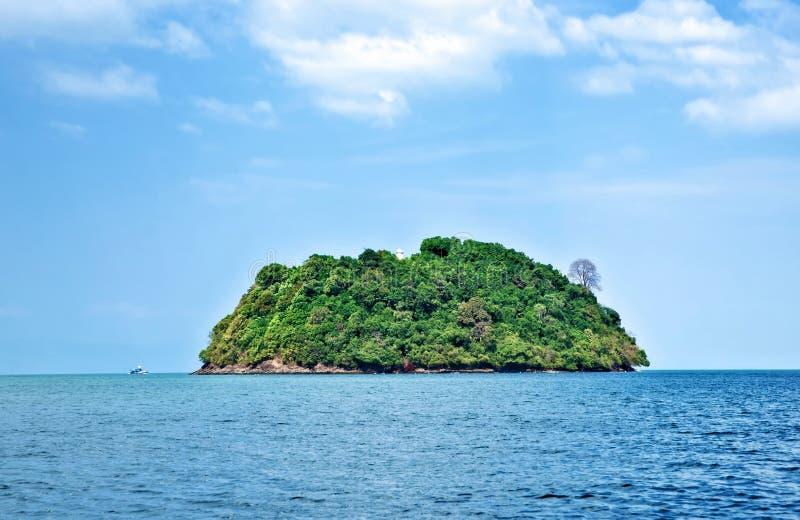 tropisk öde ö royaltyfria foton