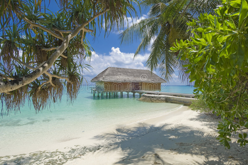 tropisk ösemesterort royaltyfria bilder