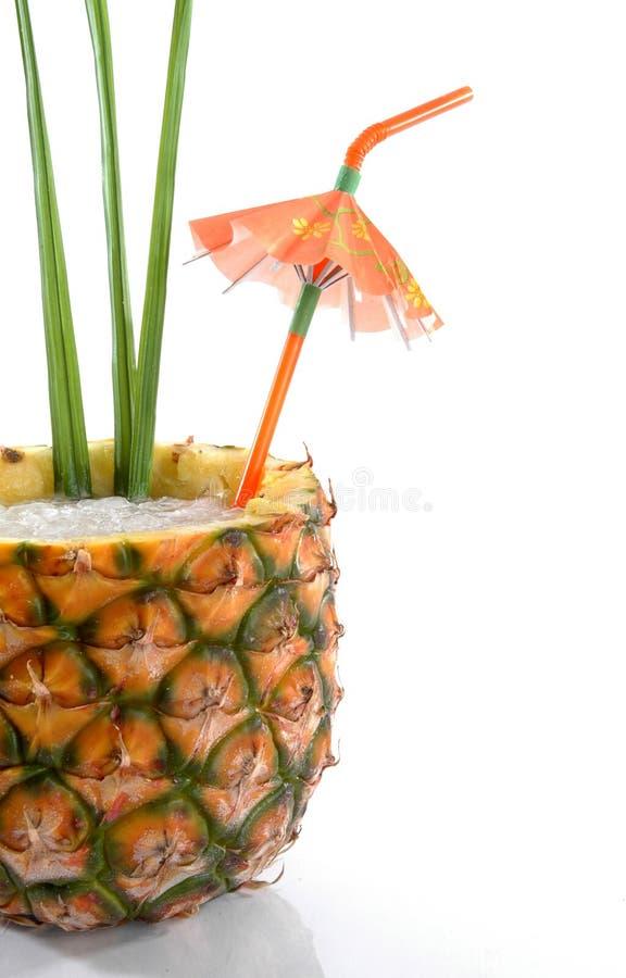 tropisk ananas för 2 drink arkivfoto