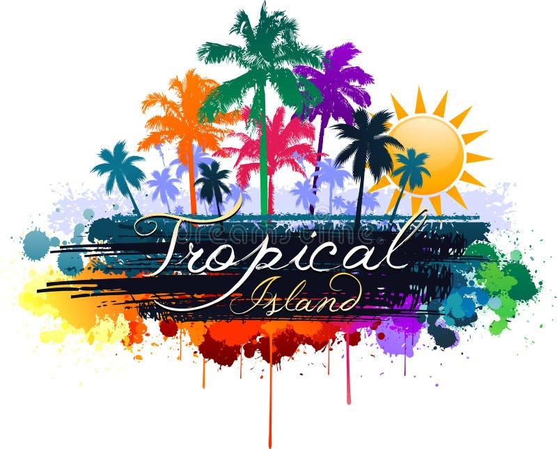 tropisk bakgrund stock illustrationer