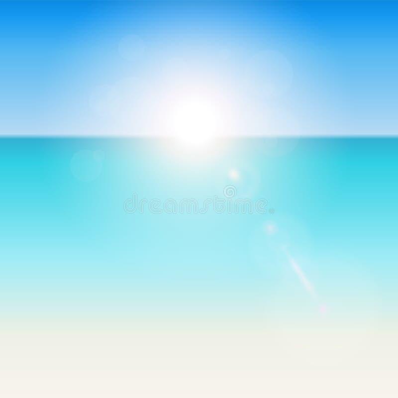 Tropisk bakgrund för sommar royaltyfri illustrationer