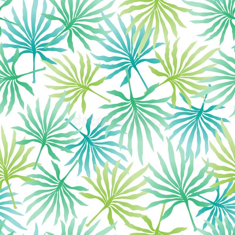 Tropisk bakgrund med palmblad royaltyfri illustrationer