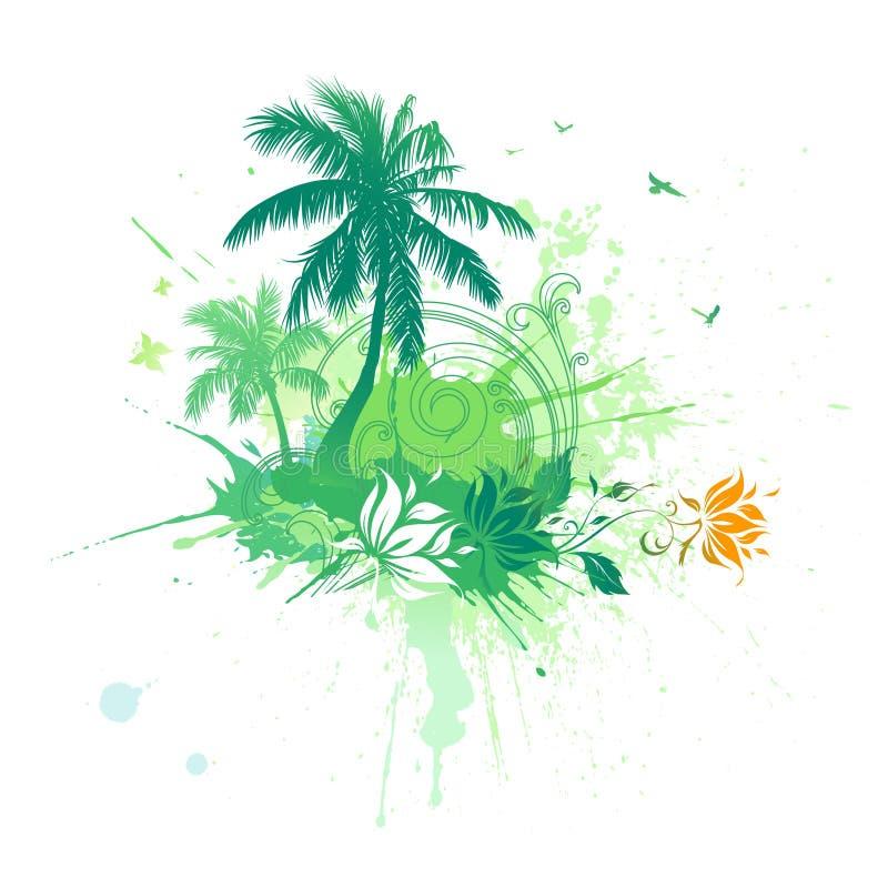 tropisk bakgrundssommar vektor illustrationer
