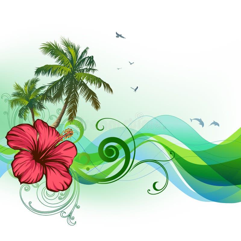 tropisk bakgrundssommar stock illustrationer