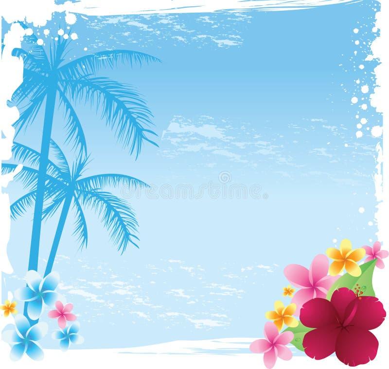 tropisk banergrunge stock illustrationer