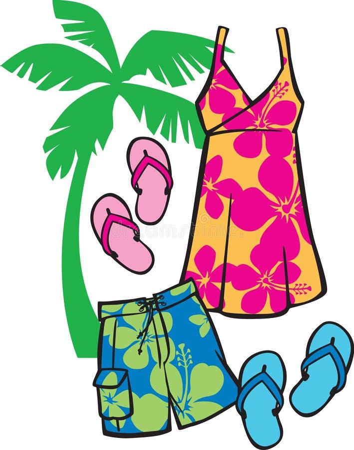 tropisk beachwear