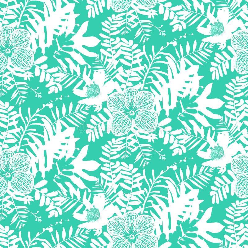 tropisk blom- modell vektor illustrationer