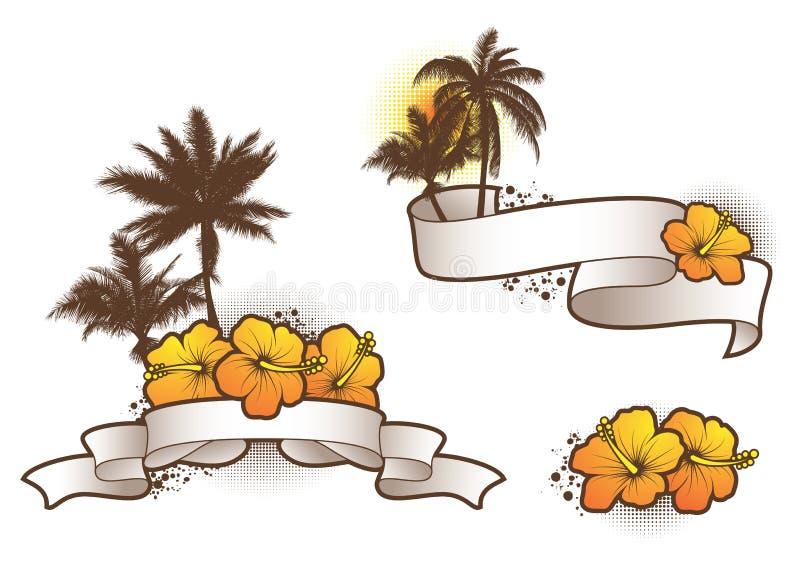 tropisk elements2 stock illustrationer