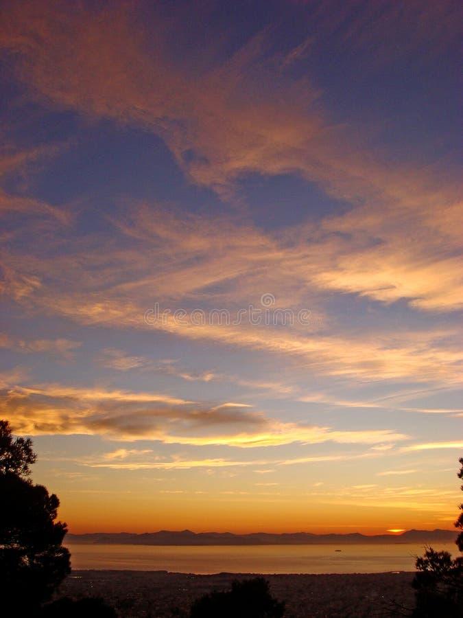 Tropisk fantastisk himmel f?rgar h?gkvalitativa tryck f?r bakgrundstapet arkivfoton