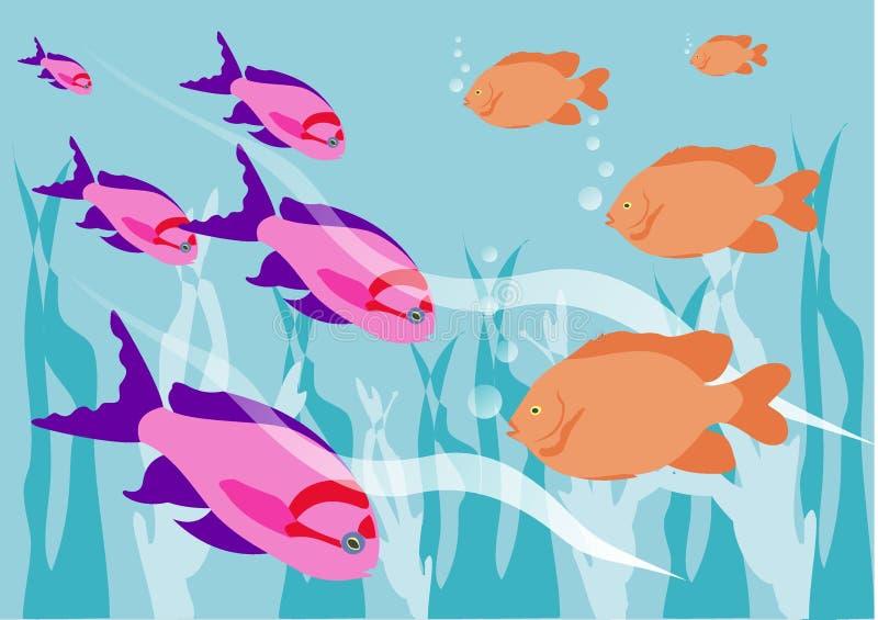 Download Tropisk fisk stock illustrationer. Illustration av underlag - 508868