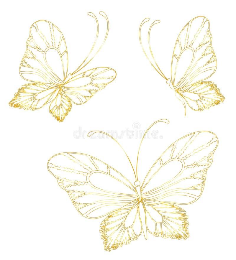 tropisk fjäril stock illustrationer