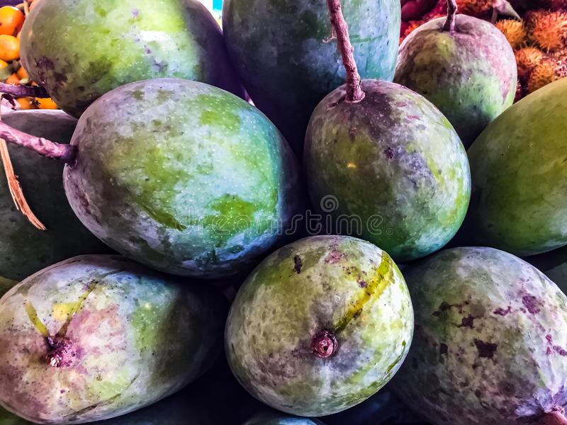 Tropisk frukt för mango i Asien arkivfoto
