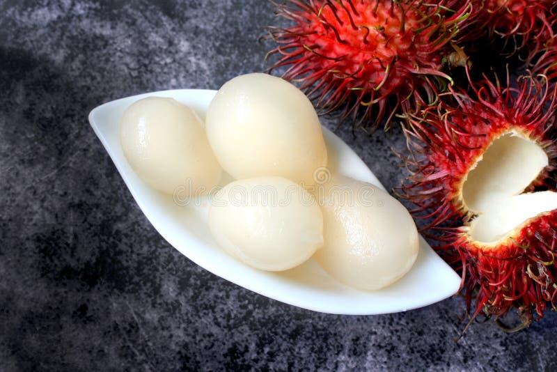 Tropisk frukt för Rambutan arkivbild