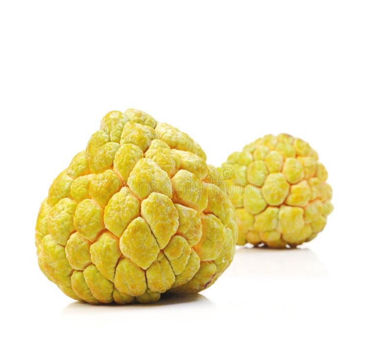 Tropisk frukt för vaniljsåsäpple på vit bakgrund royaltyfria foton