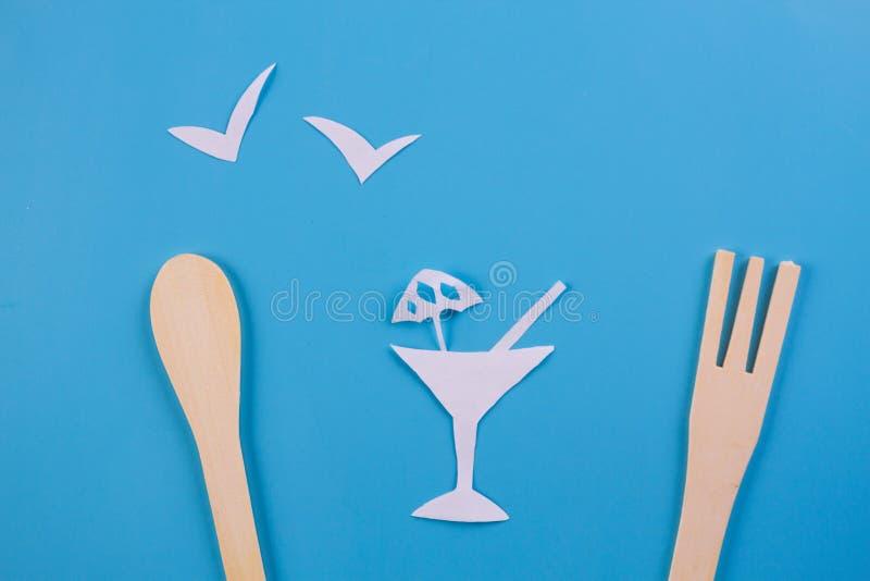 tropisk glass med frukter royaltyfria foton