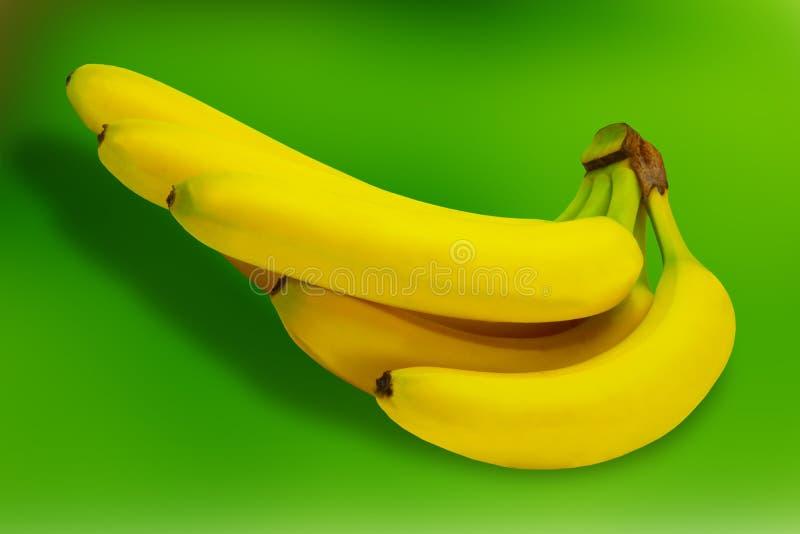 Tropisk gul bakgrund för Banane fruktnatur arkivbilder