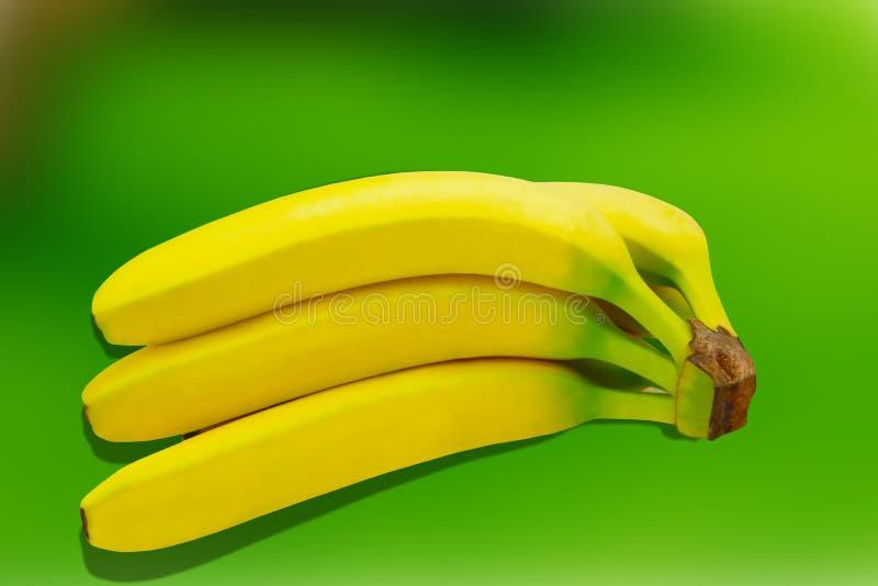 Tropisk gul bakgrund för Banane fruktnatur royaltyfri foto