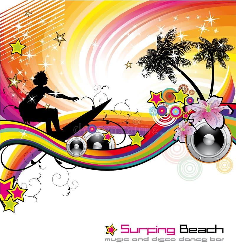tropisk händelsereklambladmusik vektor illustrationer