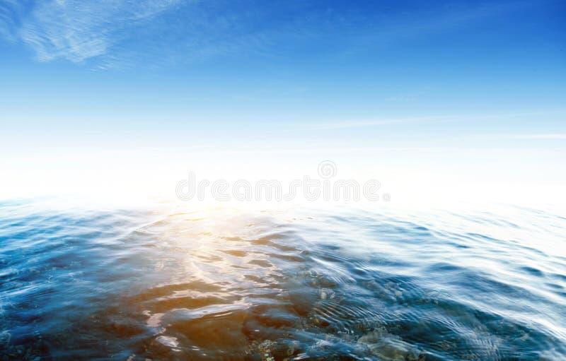 Tropisk havsolnedgång royaltyfri fotografi