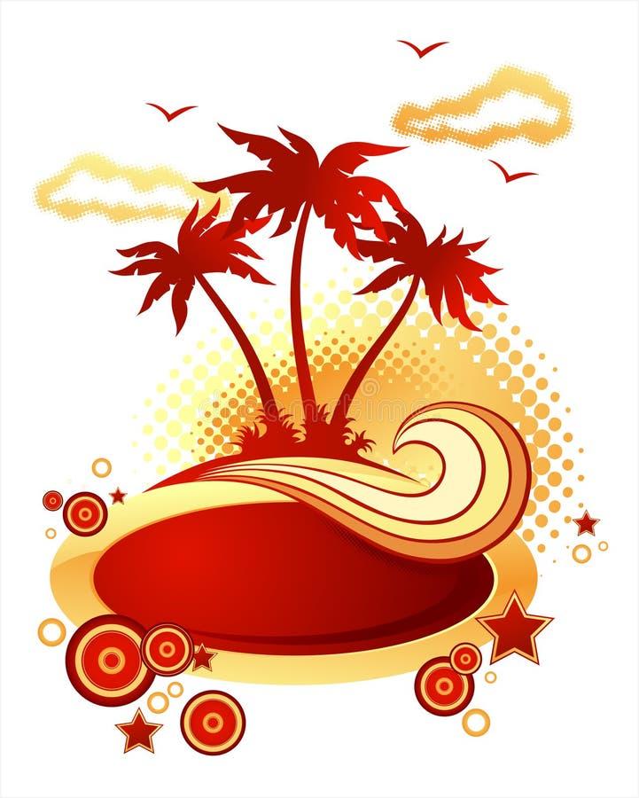 tropisk illustrationö vektor illustrationer