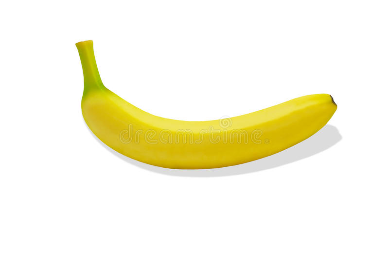 Tropisk isolerad gul bakgrund för Banane fruktnatur royaltyfria bilder