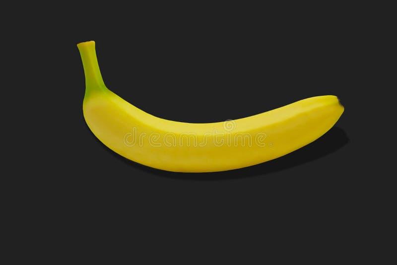 Tropisk isolerad gul bakgrund för Banane fruktnatur fotografering för bildbyråer