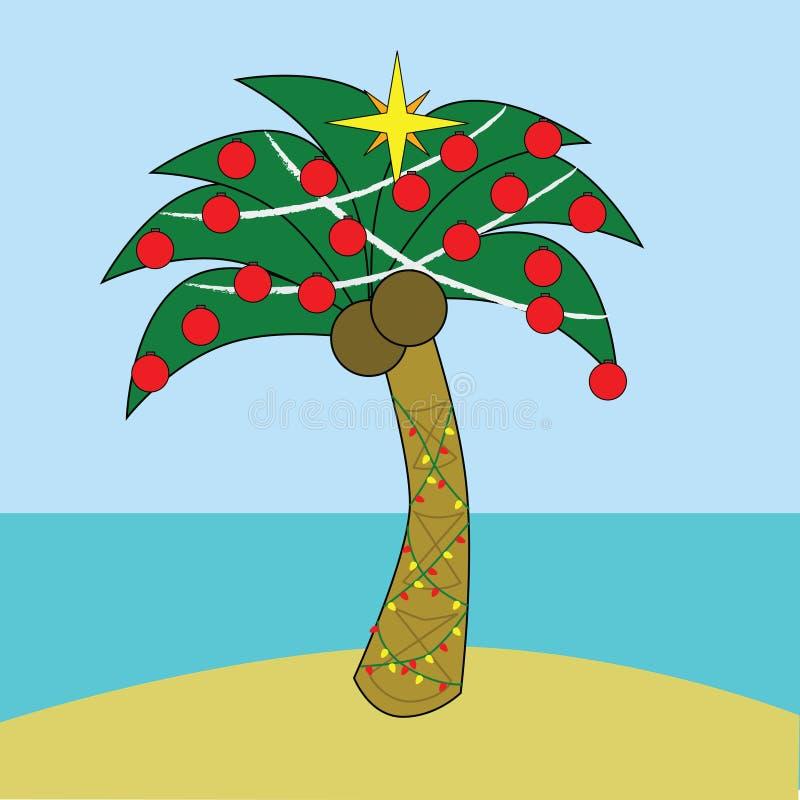 tropisk jul stock illustrationer