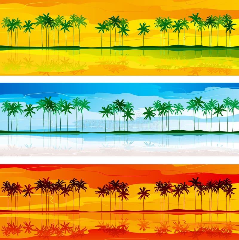 Tropisk kust royaltyfri illustrationer