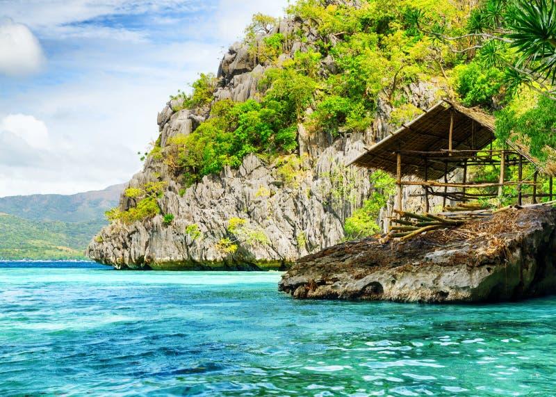 Tropisk kust. Filippinerna. fotografering för bildbyråer