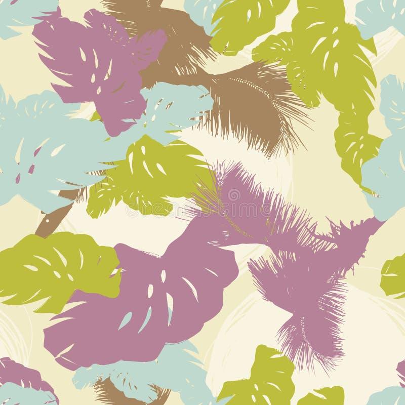 tropisk leafmodell stock illustrationer