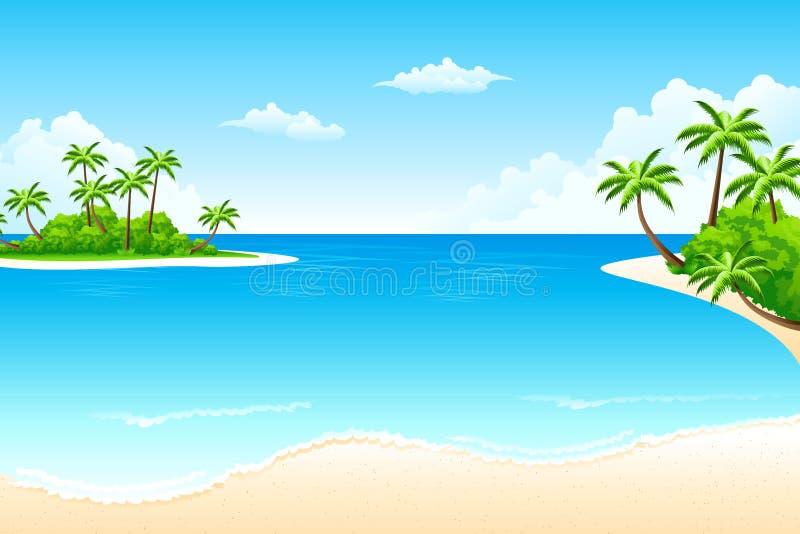 tropisk liggande vektor illustrationer