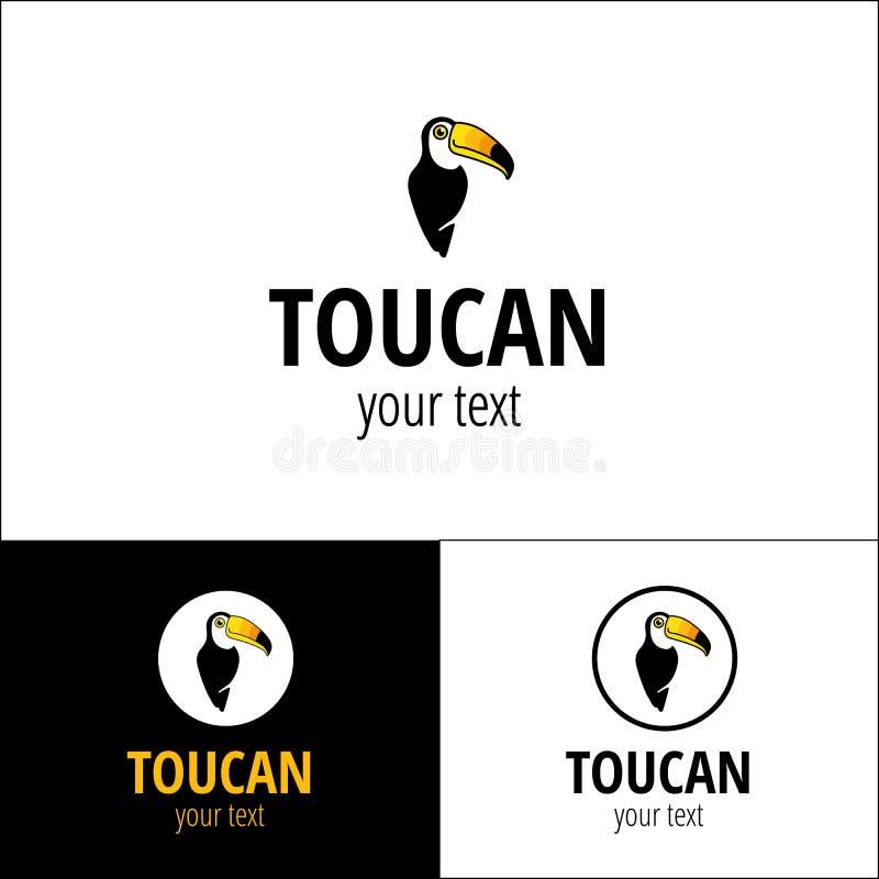 Tropisk logotyp för tukan royaltyfri illustrationer