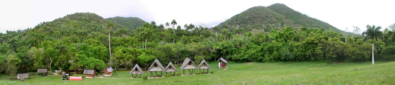 tropisk panorama royaltyfri fotografi