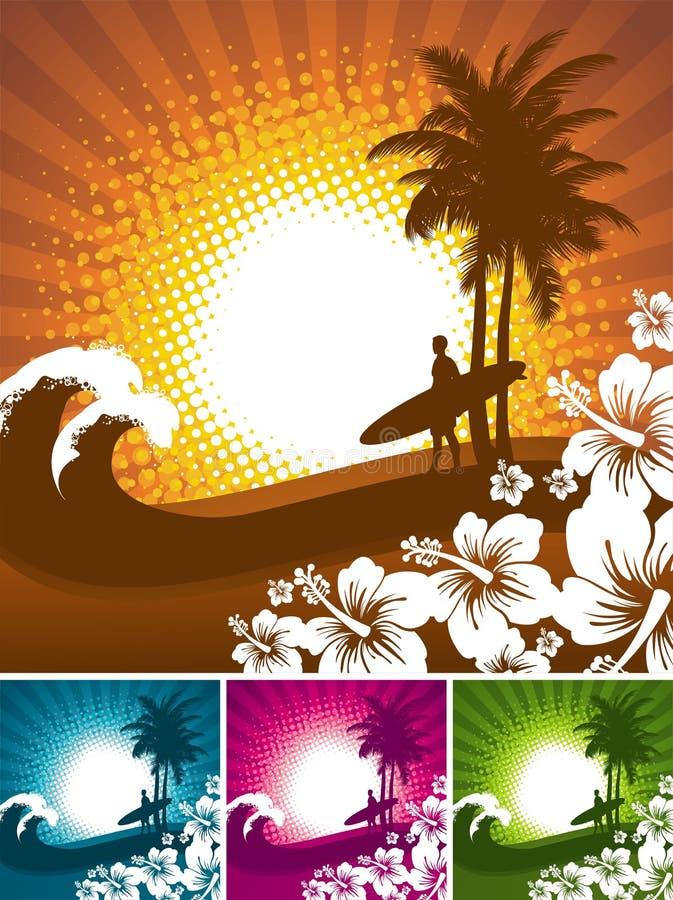 tropisk plats vektor illustrationer