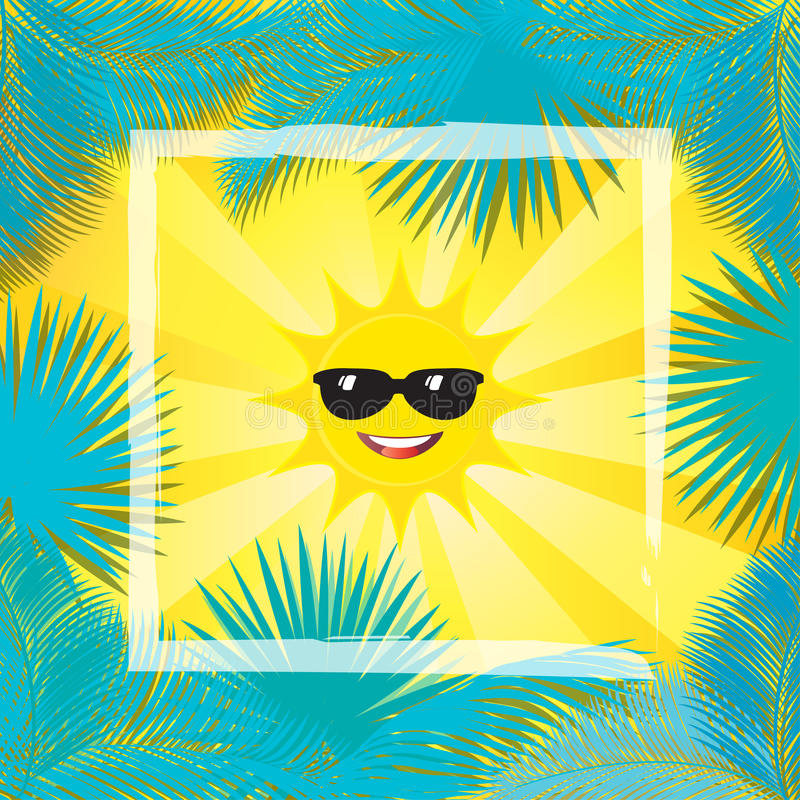 Tropisk ram för sol vektor illustrationer