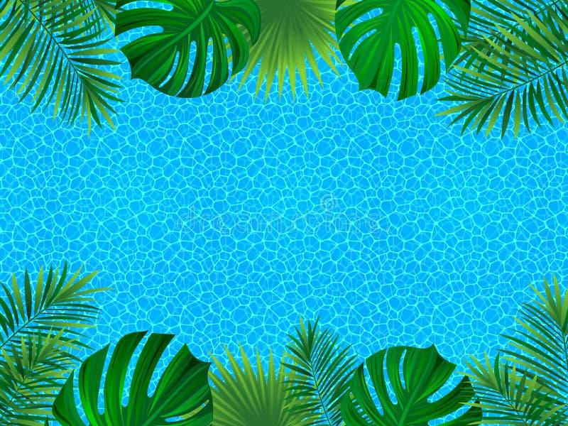 tropisk ram vändkretsinbjudankort surface vatten för bakgrund Vara kan bruk som bakgrund som desing elemrnt abstrakt bakgrundvekt royaltyfri illustrationer