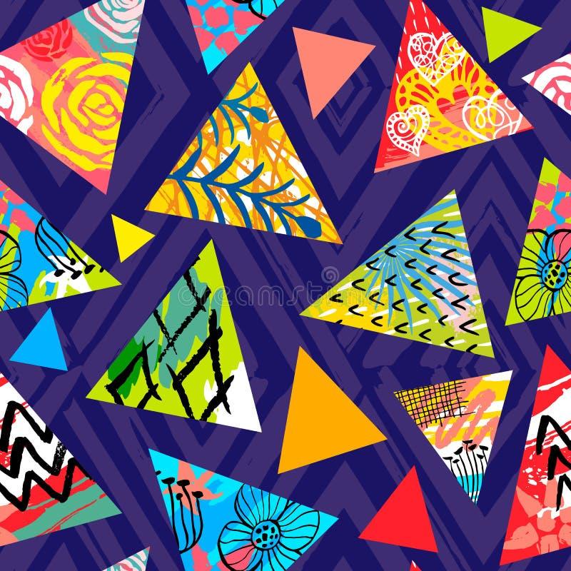 Tropisk sömlös modell för afrikansk batik Abstrakt sommardecorat vektor illustrationer