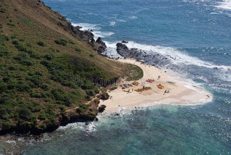 Tropisk scenisk Kayaking p arkivfoto