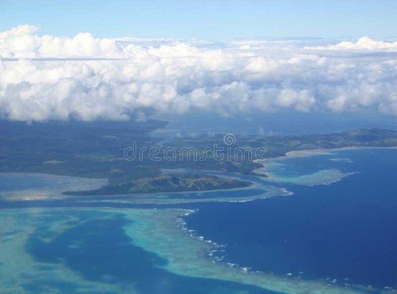 tropisk sikt för flyg- öar royaltyfri bild
