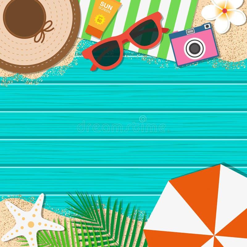 tropisk sommar för bakgrundsferieaffisch Säsongsemester, helg vektor vektor illustrationer